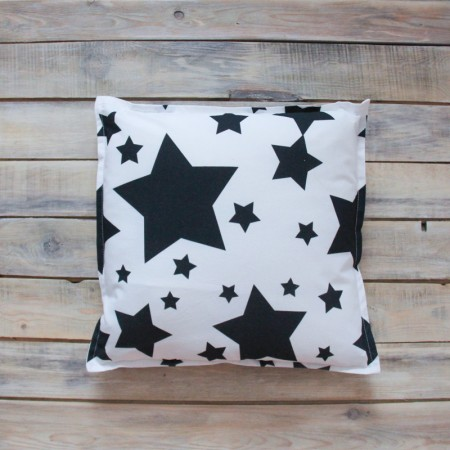 Декоративная подушка Black Stars, VamVigvam
