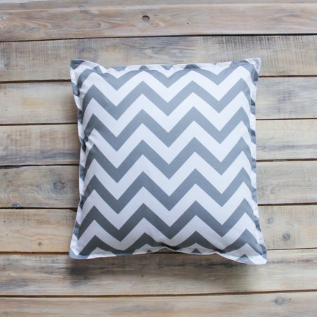 Декоративная подушка Grey Zigzag, VamVigvam