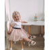 Детский комплект стол и стул облако и уши зайца белого цвета с носочками, Лесная Фея