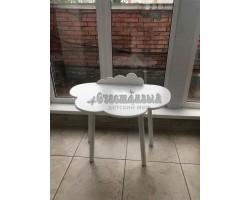 Детский стол облако с бортиком-ограничителем белого цвета