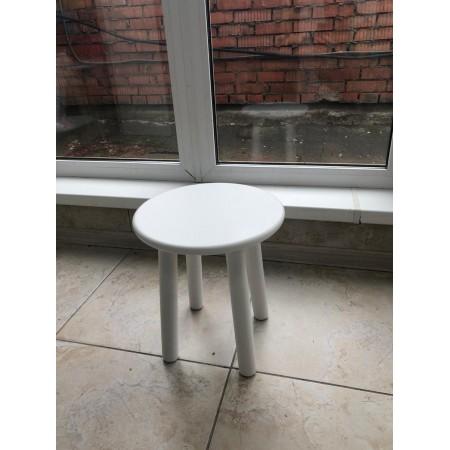 Детский стул круглый белого цвета, Bambini Letto