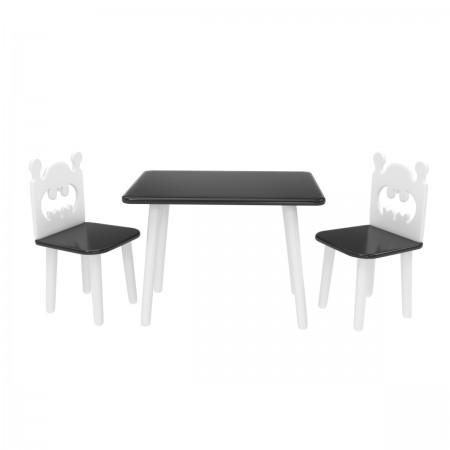 """Детский комплект """"Прямоугольный"""" стол и 2 стула """"Бэтмен"""" черный, Лесная Фея"""
