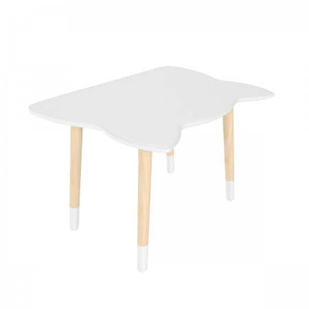 "Детский стол ""Котик"" серый перламутр, с носочками, Bambini Letto"