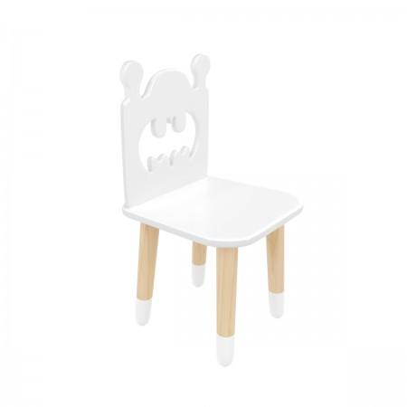 "Детский стул ""Бэтмен"" белый, с носочками, Bambini Letto"
