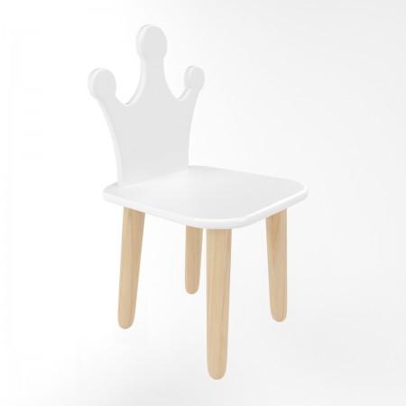Детский стул корона белого цвета, Лесная Фея