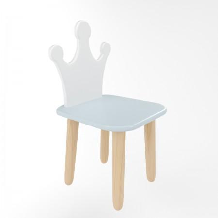 Детский стул корона голубого цвета, Лесная Фея