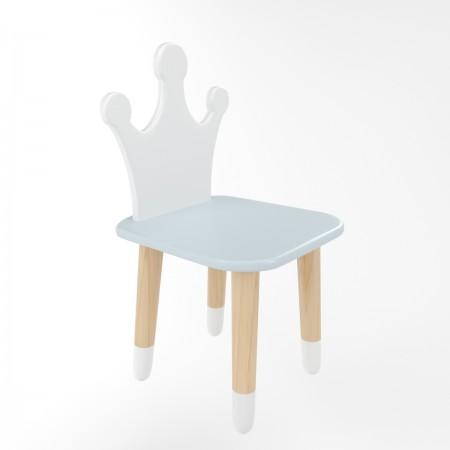 Детский стул корона голубого цвета с носочками, Лесная Фея