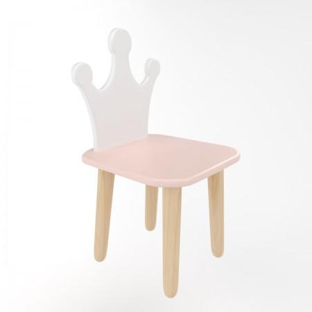 Детский стул корона розового цвета, Лесная Фея