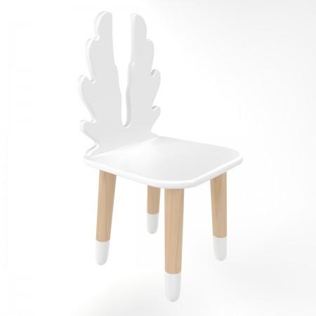 Детский стул крылья белого цвета с носочками, Лесная Фея