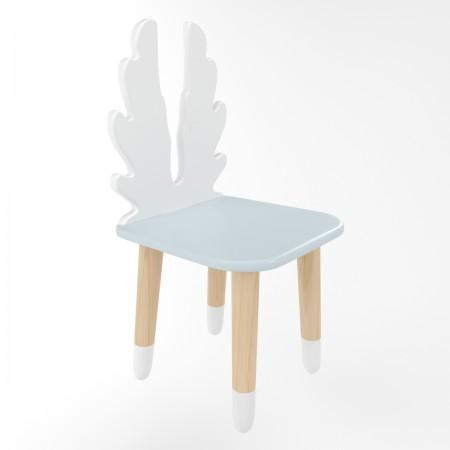 Детский стул крылья голубого цвета с носочками, Лесная Фея