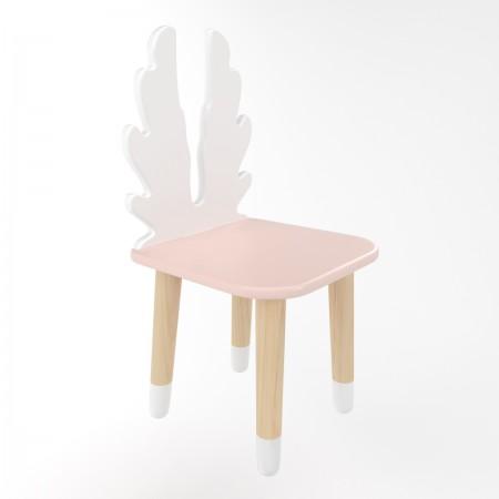 Детский стул крылья розового цвета с носочками, Лесная Фея