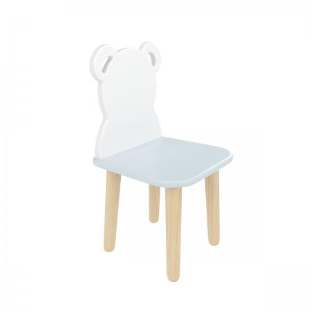 Детский стул мишка голубого цвета, Лесная Фея