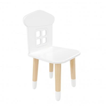 Детский стул домик белого цвета с носочками, Лесная Фея
