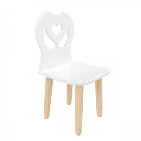 Детский стул Крылья с сердцем белый, Bambini Letto