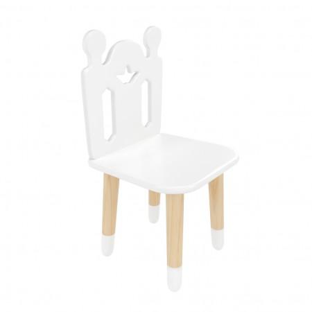"""Детский стул """"Принц Артур"""" белый, с носочками, Лесная Фея"""
