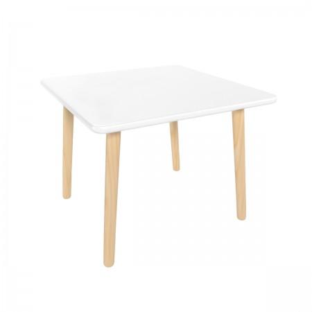 Детский квадратный стол белого цвета, Лесная Фея