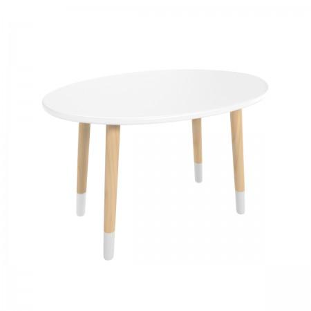 Детский овальный стол белого цвета с носочками, Лесная Фея