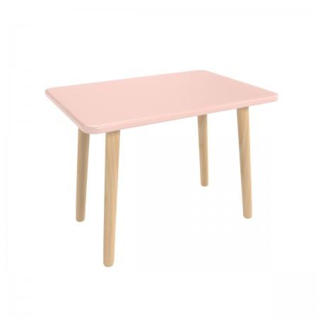 Детский прямоугольный стол розового цвета, Лесная Фея