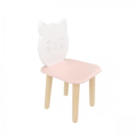 """Детский стул """"Котик"""" розовый, Лесная Фея"""