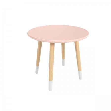 Детский круглый стол розового цвета с носочками, Лесная Фея