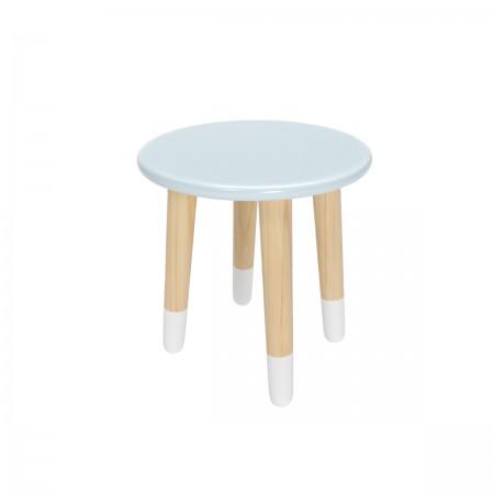 Детский круглый стул голубого цвета с носочками, Лесная Фея