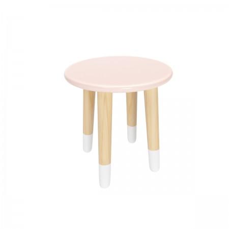 Детский круглый стул розового цвета с носочками, Лесная Фея