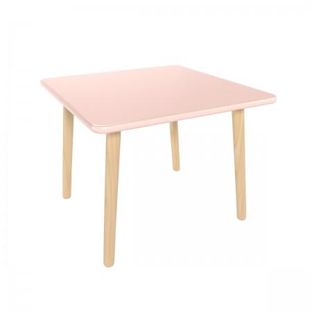 Детский квадратный стол розового цвета, Лесная Фея