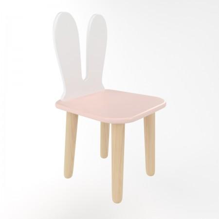 Детский стул уши зайца розового цвета, Лесная Фея