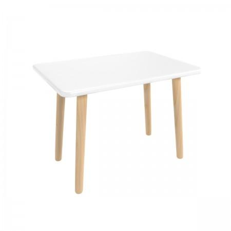 Детский прямоугольный стол белого цвета, Лесная Фея