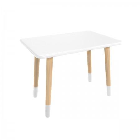 Детский прямоугольный стол белого цвета с носочками, Лесная Фея