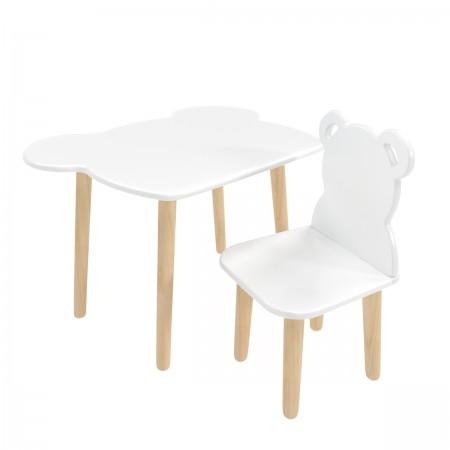 """Детский комплект стол и стул """"Мишка"""" белый, Лесная Фея"""