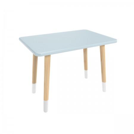 Детский прямоугольный стол голубого цвета с носочками, Лесная Фея