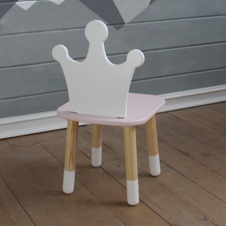 Детский стул корона розового цвета с носочками, Лесная Фея