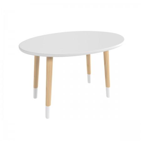 """Детский стол """"Овальный"""" серый перламутр, с носочками, Bambini Letto"""