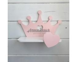 Детская полочка Корона розовый