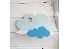 Детская полка облако голубого цвета