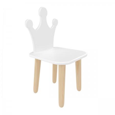 Детский стул Корона белый, Bambini Letto