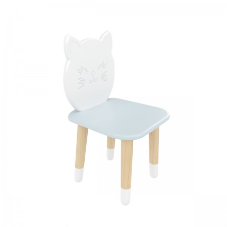 "Детский стул ""Котик"" голубой, с носочками, Bambini Letto"