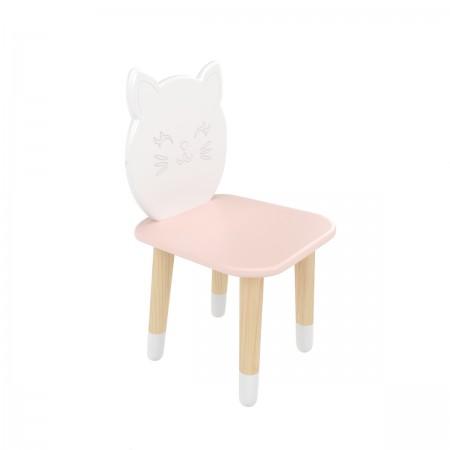 """Детский стул """"Котик"""" розовый, с носочками, Bambini Letto"""