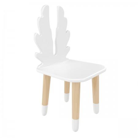 "Детский стул ""Крылья"" белый, с носочками, Bambini Letto"