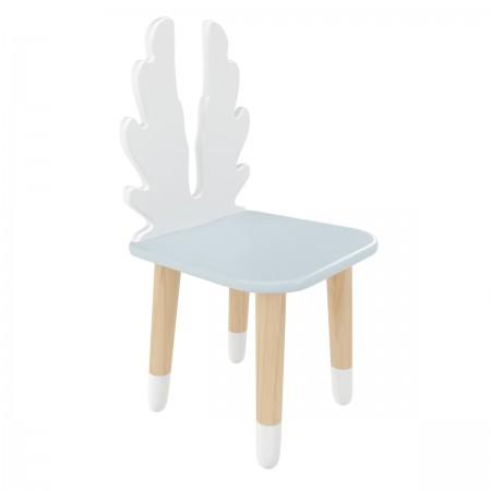 Детский стул Крылья голубой, с носочками, Bambini Letto