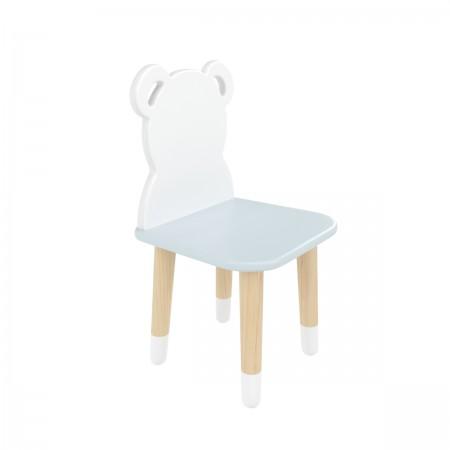 "Детский стул ""Мишка"" голубой, с носочками, Bambini Letto"
