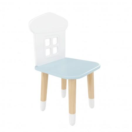 "Детский стул ""Домик"" голубой, с носочками, Bambini Letto"