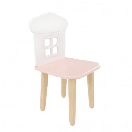 "Детский стул ""Домик"" розовый, Bambini Letto"