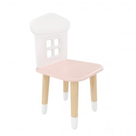 """Детский стул """"Домик"""" розовый, с носочками, Bambini Letto"""