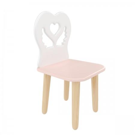 """Детский стул """"Крылья с сердцем"""" розовый, Bambini Letto"""