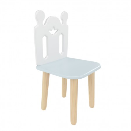 "Детский стул ""Принц Артур"" голубой, Bambini Letto"
