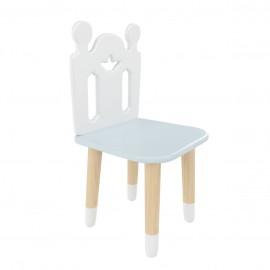 """Детский стул """"Принц Артур"""" голубой, с носочками"""