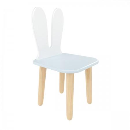 Детский стул Уши зайца голубой, Bambini Letto