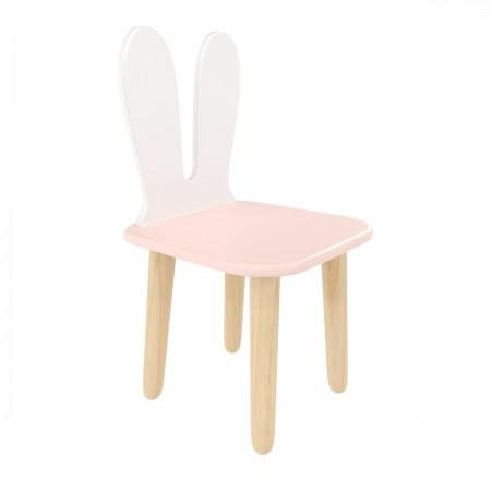 Детский стул Уши зайца розовый, Bambini Letto